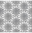 sunflower pattern seamless gray vector image vector image