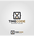 time code logo template vector image
