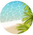 tropical paradizetheme vector image vector image
