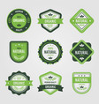 variety ecological stickers set vector image vector image