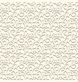 vintage swirly pattern in neutral color vector image
