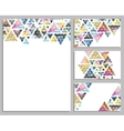 Set of trendy cards Cards with triangles vector image
