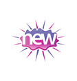 a word new icon vector image vector image