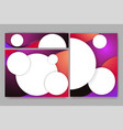 abstract elegant banners set of templates for eb vector image vector image