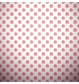 Abstract flower pattern wallpaper with polka dot vector image