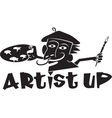 artist up vector image vector image
