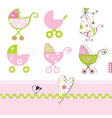 Baby buggy design elements vector image vector image
