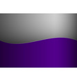 background purple stripe wave one grey vector image vector image