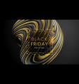 black friday sale abstract motion background with vector image vector image
