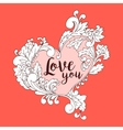 Boho style original heart frame with space vector image vector image