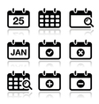Calendar date icons set vector | Price: 1 Credit (USD $1)