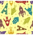 Cartoon rockets seamless pattern vector image vector image