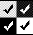 check mark icon isolated on black white and vector image vector image