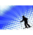 child skiing on the abstract background vector image