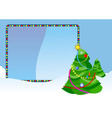 christmas tree placard vector image vector image
