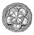 cinquefoil gothic and islamic architecture vector image vector image