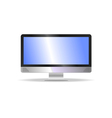 computer monitor with audio vector image