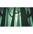 Creepy forest vector image vector image