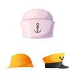 design of headgear and cap symbol vector image vector image