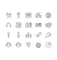 dj line icons signs set outline vector image vector image