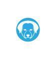 dog head symbol and logo vector image
