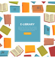 e-library landing page template education online vector image
