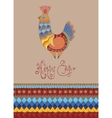 Easter card folk decorated bright chick typography vector image vector image