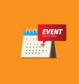 event calendar with stamp of upcoming vector image