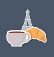 france culture card with eiffel tower vector image