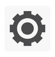 gear icon black vector image vector image