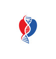 genetic health logo design icon concept vector image vector image