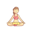Girl In Lotus Yoga Pose vector image vector image