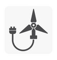 green energy icon on white vector image vector image