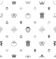 green icons pattern seamless white background vector image vector image