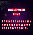 halloween font blood letter for horror text vector image