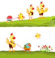 Happy Easter Family vector image vector image