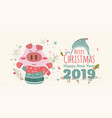 happy holidays warm wishes creative hand drawn vector image