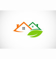 house green leaf business logo vector image vector image