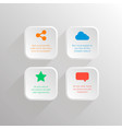 icons square business concepts with flat vector image