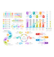 infographic templates for data presentation vector image
