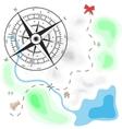 Island with treasure vector image