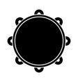 isolated tambourine icon musical instrument vector image vector image