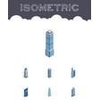 isometric skyscraper set of exterior business vector image vector image