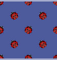 ledybag seamless pattern ladybird texture vector image