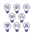 lightbulbs icons vector image vector image