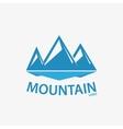 logo design element Mountain hill rock vector image