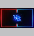 neon versus battle vector image