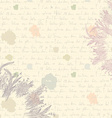 Old letter background - paper vector image vector image
