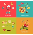online food shopping vector image