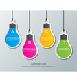 paper bulbs vector image vector image
